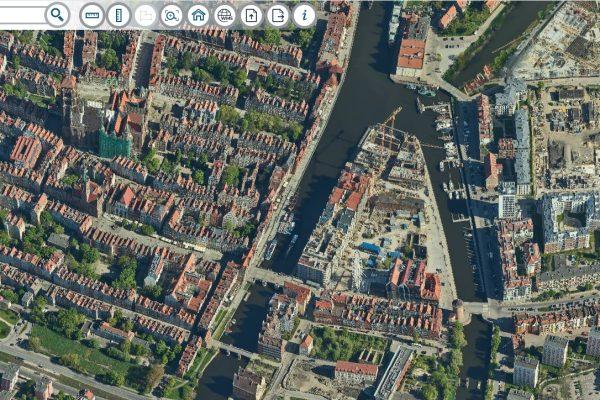 Ukośne mapy Gdańska – zobacz swój dom z czterech stron!