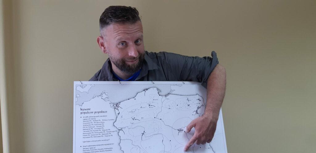 Marek Dąbrowski Mapa Polski dla dzieci zestaw edukacyjny