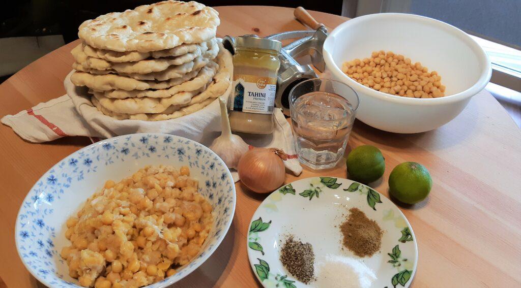 Hummus składniki ścieżki mojego świata